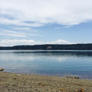 lake looks beautiful