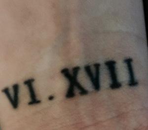 This tattoo is dedicated for Irwin, my boyfriend.